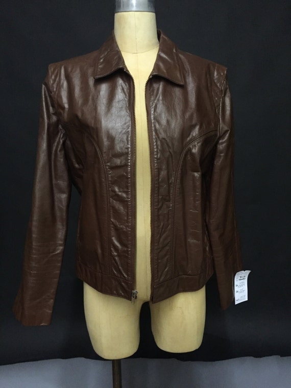 Late 70s Cordovan unisex Leather Jacket (AVAILABLE) 1Hg9N