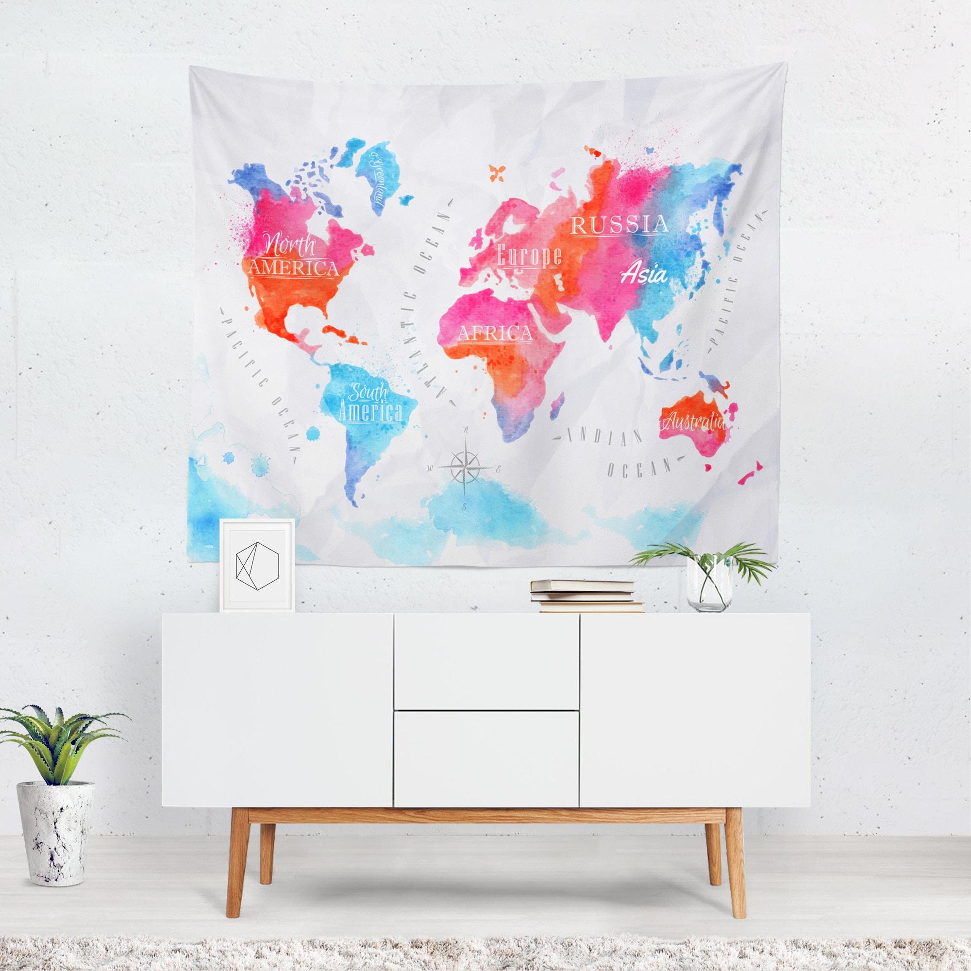 monde carte murale decor monde carte murale carte du monde. Black Bedroom Furniture Sets. Home Design Ideas