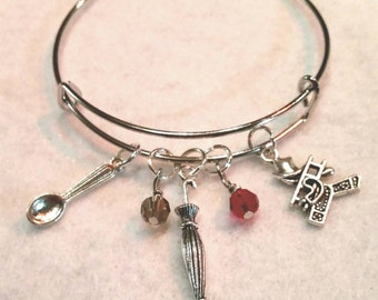 Disney mary poppins  inspired adjustable bangle mary poppins   charm bracelet
