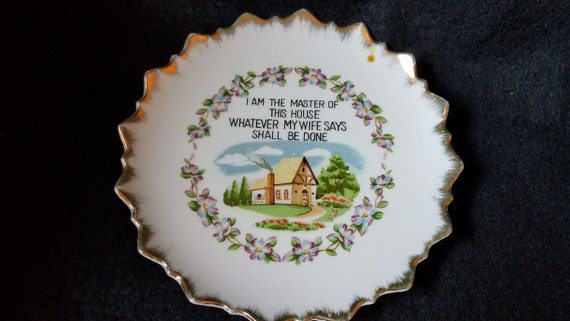 1950s Wall Decor Plate