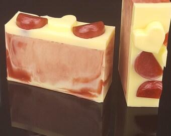 5.0 oz Pomegranate Lemon Goats Milk Glycerin Soap
