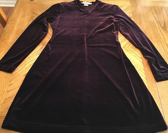 Vintage burgundy velvet dress size 2