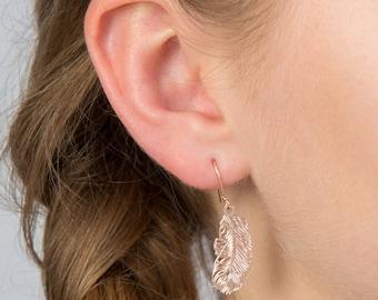 Simple Feather Earrings