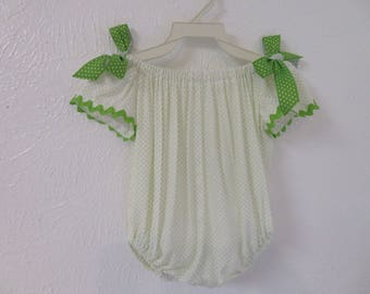 Bubbles baby clothes - bubbles Baby romper // baby romper // baby white romper // baby shortall // baby romper // Bubbles baby clothing.