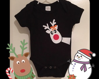 Rudolph Baby, Rudolph Boy, Rudolph Girl, Reindeer Baby, First Christmas, Christmas Tshirt