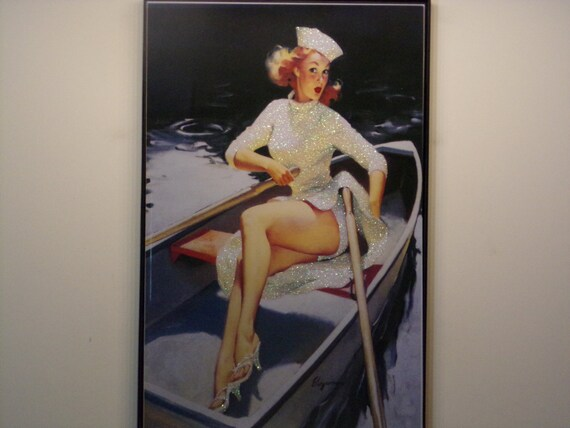Glittered Poster - Row, Row, Row Your Boat
