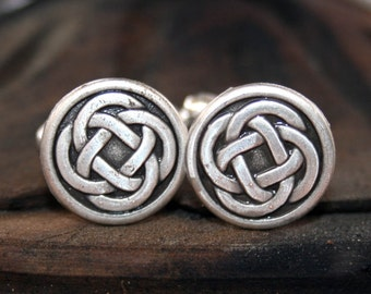 Cufflinks - Cuff Links - Silver Celtic Knot