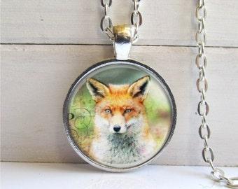 Fox Necklace, Red Fox Pendant, Fox Jewelry, Nature Jewelry