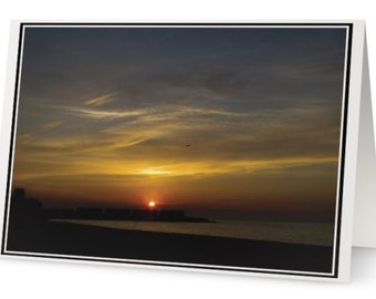 Folded Card ''Sunset'' For Any Occasion, Landscape Photography Card, Sunset Greeting Card, Birthday Card, Glossy Photo Finish Card