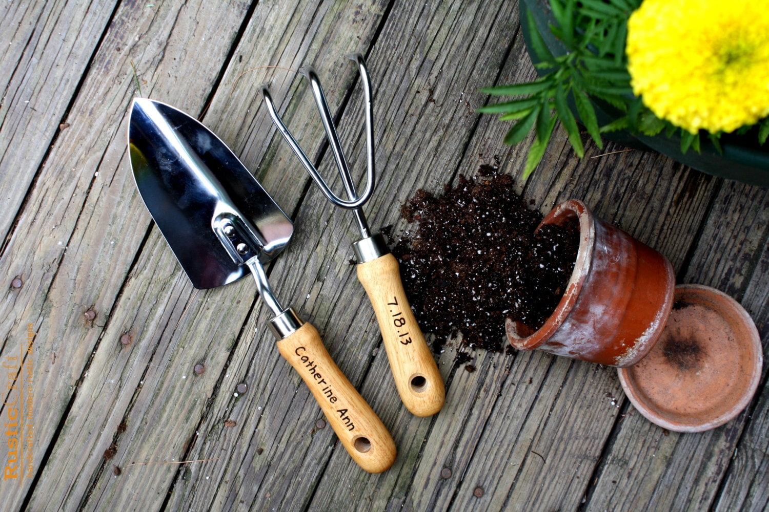 Personalized garden tool set hand trowel short shovel for Gardening tools list and their uses