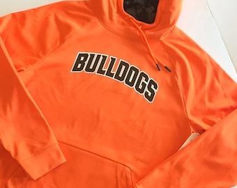 MENS orange hoodie