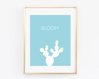 Cactus Prints, Bloom where you are planted, Desert printable