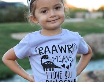 Dinosaur Tshirt, Dinosaur Shirt, Dinosaur T-shirt, Girls Dinosaur Shirt, Dino Shirt, Rawr Tshirt, Dinosaur Birthday, Dinosaur Party