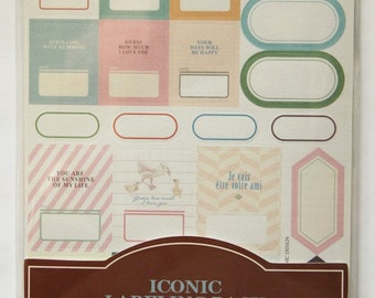 Deco Stickers: LABELS- ALPHA - NUMBERS