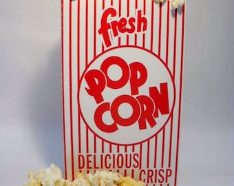Retro Carnival Popcorn Boxes -  set of 12