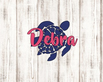 Beach Turtle Decal, Beach Decal, Vinyl Decal, YETI Decal, Laptop Decal, Car Decal, Computer Decal
