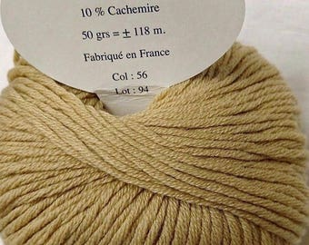 10 balls cashmere, wool and silk /brillante/ made in FRANCE