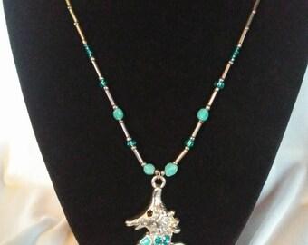 Turquoise Seahorse Pendant Necklace
