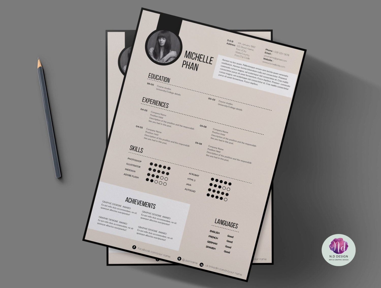 Plantilla CV moderno plantilla de carta de presentación