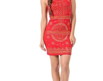 L I V D Leona Embellished Dress
