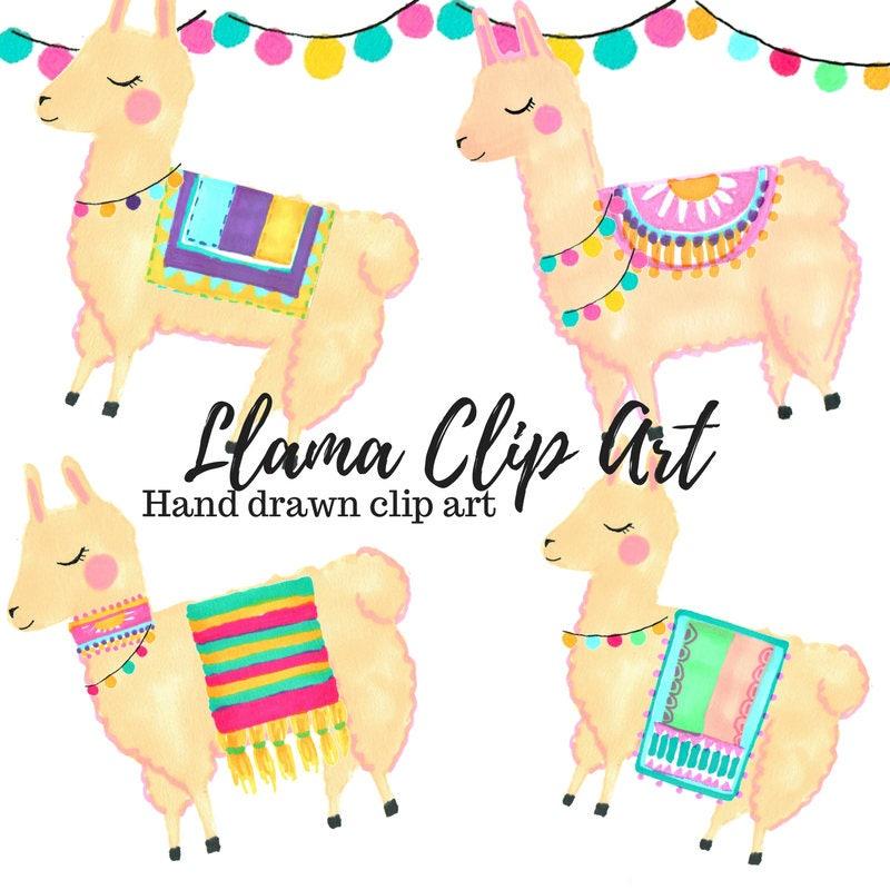 llama clip art animal clip art cute clip art hand drawn rh etsy com lama clip art llama clipart black and white