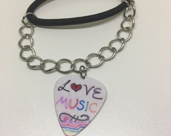 Double Sided Guitar Pick Bracelet