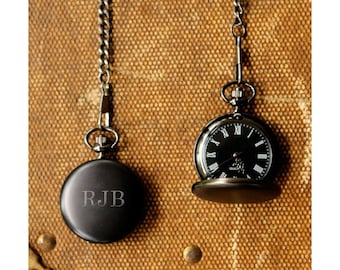 Midnight Pocket Watch (g186-1123) - Free Personalization