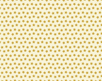 Twilight Gold Stars on Ivory from Blend Fabric's Boo Crew Collection by Maude Asbury