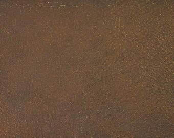 Coupon of lambskin leather velvet aged