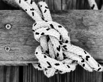 black and white sailing knot, nautical decor, nautical photography, nautical art, nautical photo, nautical print, ocean decor, ocean print