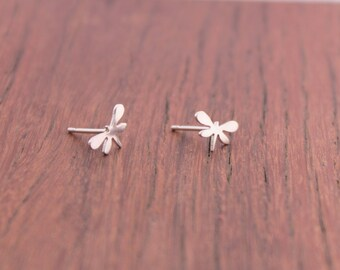 Dragonfly Stud Earrings,Sterling Silver, Hand Crafted Dragonfly Earrings,Insect Jewelry, Dragon Fly Earrings, Bug Jewelry, Dragonfly Jewelry