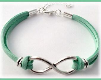 Infinity Bracelet, Silver Love Infinity Charm Bracelets, Women's Bracelet Gifts, Girls Love Infinity Jewelry Gifts, Infinity Love Bracelets