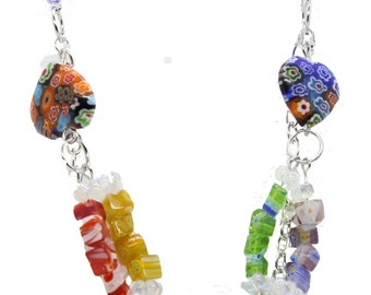 Double strand Colorful Necklace