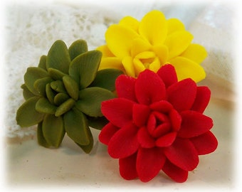 Dahlia Hair Pins - Dahlia Hair Accessories, Dahlia Wedding Hair Accessories, Dahlias for Hair