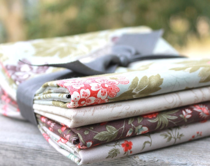 Quill by 3 Sisters for Moda ~ 4 Half Yard Bundle Floral Bundle A