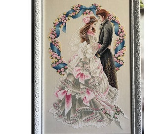 Completed cross stich Wedding Love embroidery