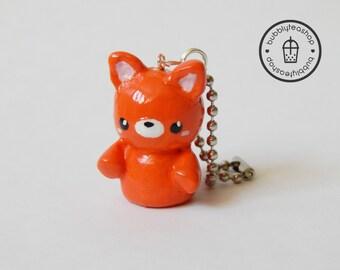 Fox Charm - Polymer Clay Fox - Fox Keychain - Kawaii Polymer Clay - Animal Charm - Cute Fox - Cute Charm - Kawaii Charm