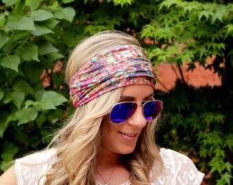 BUY 2 get 1 FREE!! Utopia, Yoga Headband, Workout headband, Jersey Headband, Workout headband, boho Hairband, Running