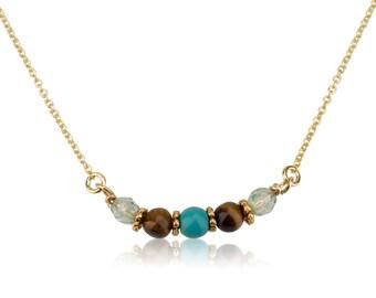 Gemstone & Helen Chain Necklace