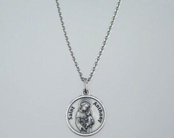Saint Anthony Prayer Medal Necklace