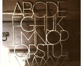 alphabet, wood laser cut