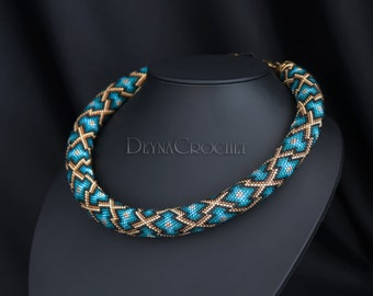 Bead Crochet Necklace - Morocco patterns - Avaible
