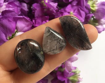 Rutilated Quartz Cabochons - Cab - Cabs -Cabbing - Jewelry - Rutile