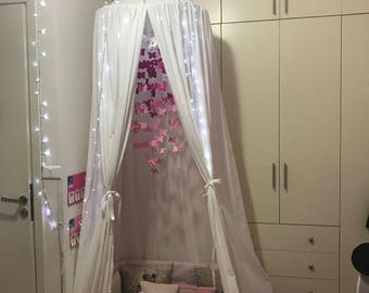 kids canopy tent/white/hanging playing tent/ bed canopy