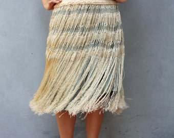Dancing Lace Skirt Vintage Hand knotted Lace skirt Preloved fabric Clothing size medium 8/10 EU size 38/40