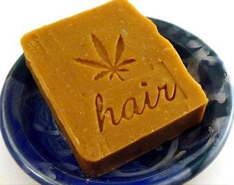 Citrus Bay Rum Patchouli Shampoo bar -  Hemp Oil shampoo bar - Vegan Shampoo Bar