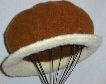 Hand Knitted Felted Hat City Chic 'Amber' Wool