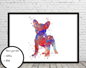 French Bulldog, French Bulldog art, Frenchie, watercolor art print, dog print, home decor, watercolor dog, watercolor Bulldog