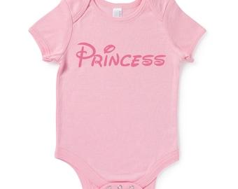 Princess Slogan Baby Grow Humour Gift Disney Inspired Present Baby Shower Birthday