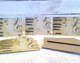 Music Themed Note Cards | Blank Note Cards | Note Cards